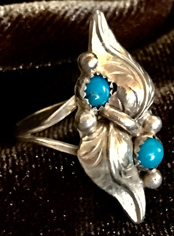 Exquisite Silver with Turquoise Ring
