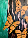 """Butterflies on a Tree"" Oil Painting"