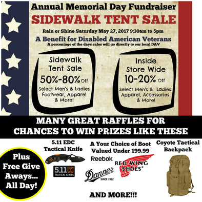 Annual Memorial Day Sidewalk Sale Fundraiser to Benefit Disabled American Veterans