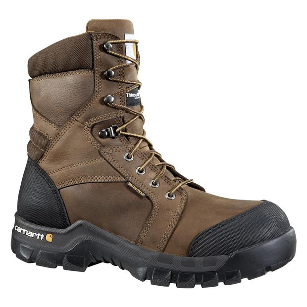 Carhartt 8 Inch Brown Rugged Flex Safety Boot 400g  Work Boot