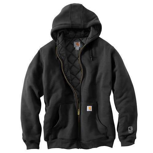 Carhartt Rain Defender Rockland Quilt Lined Zip up Sweatshirt