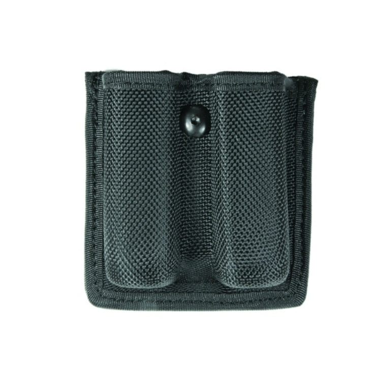 Double Mag Case Open | Medium | Velcro Loop Molded Case | Ballistic Nylon | Black