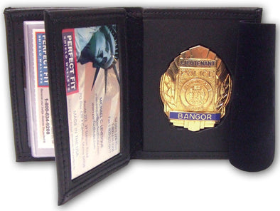 Hidden Badge Wallet W/ Money Pocket- 5CC Slots- Flipping ID Window 104