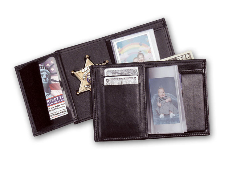 Recessed Badge Wallet W/ 5CC Slots- Single ID Window 105