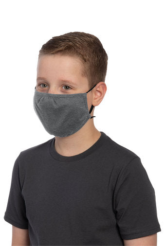 Youth 3 Ply Cotton Face Mask with adjustable ear loops. | Multiple colors (customization available)