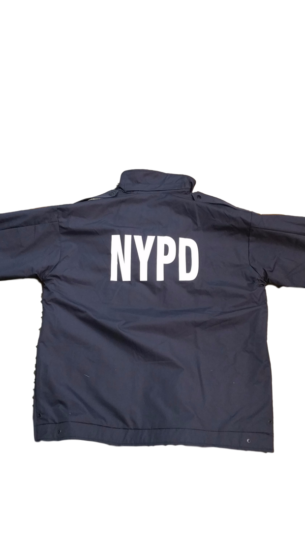 8a0449e83 NYPD Reversible Hi-Vis Raincoat with Screen Print & Patches