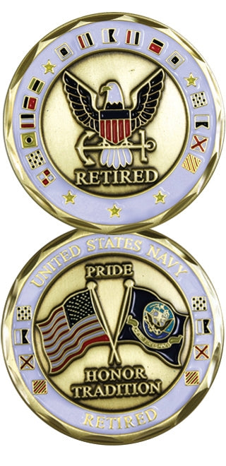 U. S. Navy Retired Challenge Coin