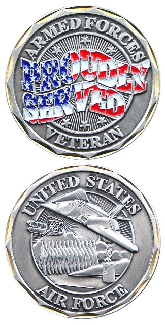 Proudly Served Air Force Challenge Coin