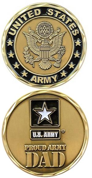 Proud Army Dad Challenge Coin