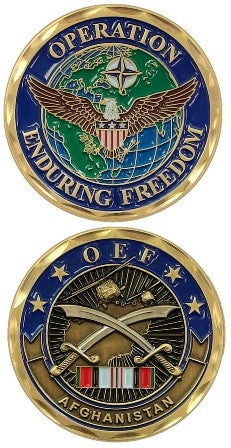 Operation Enduring Freedom Afghanistan Challenge Coin