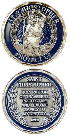 Saint Christopher Challenge Coin