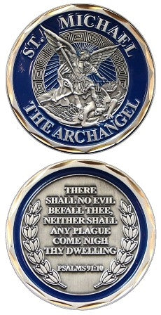 Saint Michael Warrior Challenge Coin
