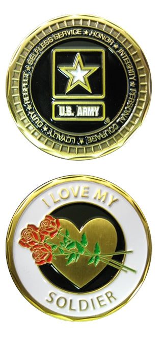 I Love My Soldier Challenge Coin