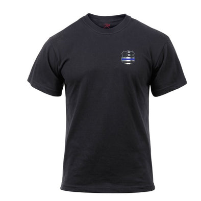 Thin Blue Line Shield T-Shirt | Black