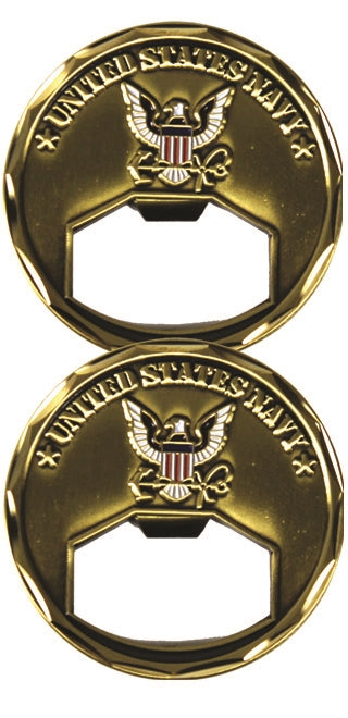 Navy Bottle Opener Challenge Coin