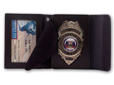 Recessed Badge and ID Cases with Snap or Velcro