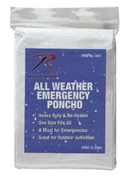 Clear All Weather Emergency Poncho