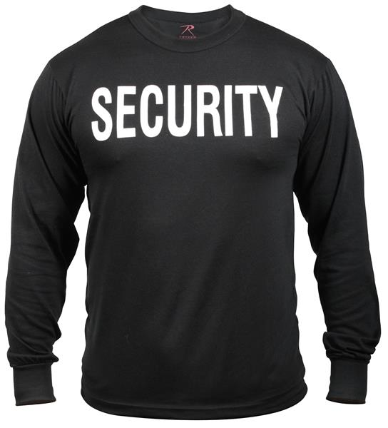 2-Sided Security Long Sleeve T-Shirt | Black
