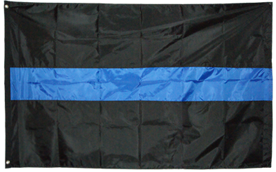 Thin Blue Line 3'x5' Nylon 210D Embroidered