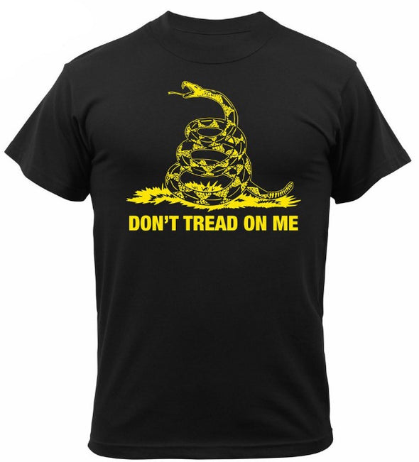 Don't Tread On Me Vintage T-Shirt | Black/Yellow