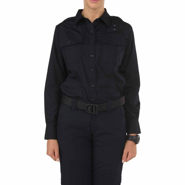 5.11 Women's Taclite PDU Class A Long Sleeve Shirt | NAVY