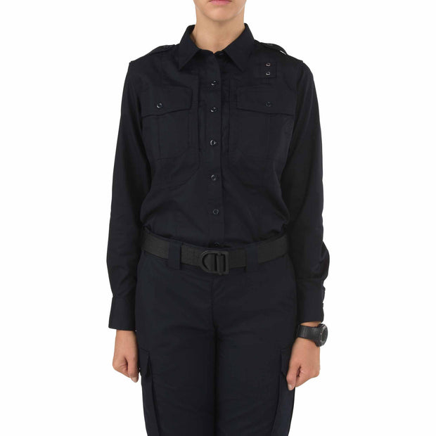5.11 Women's Taclite PDU Class B Long Sleeve Shirt | NAVY