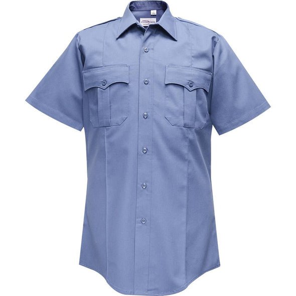 Valor Duro Poplin Short Sleeve Shirt | Medium Blue