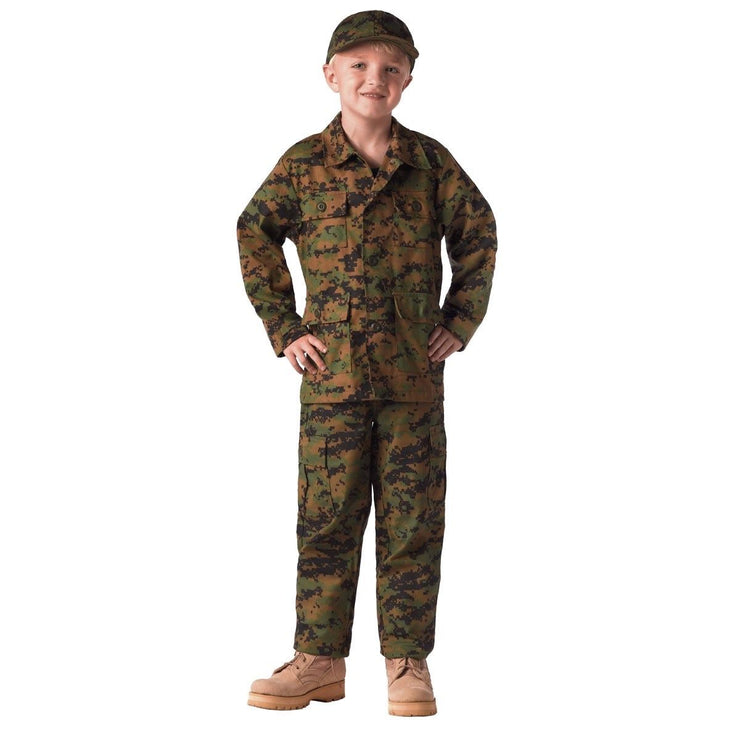 Kids Digital Camo BDU Shirt and Pant - Sold Separately | Woodland Digital