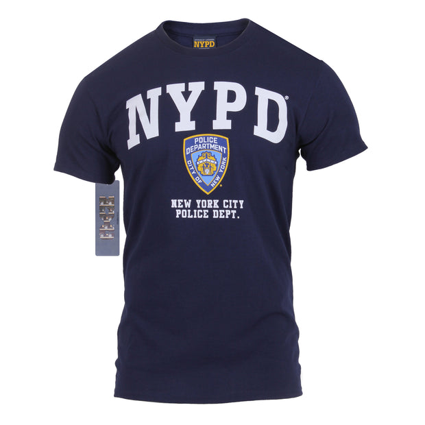 Officially Licensed NYPD Full Chest T-Shirt | Navy