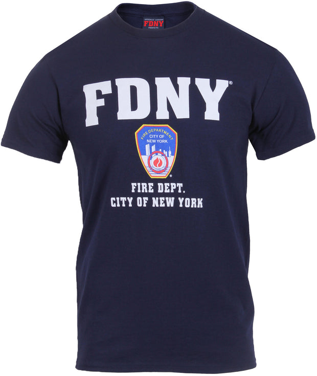 Officially Licenced FDNY New York City Fire Department T-Shirt | Navy