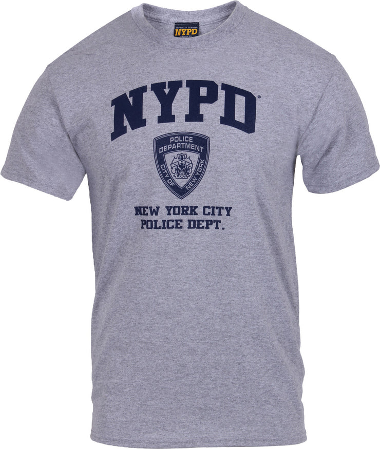 Officially Licensed NYPD Full Chest T-Shirt | Grey