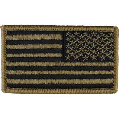 Reverse Flag Patch Velcro | Light Brown