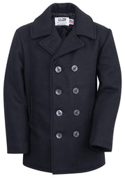 Original USA Made 32 oz. Melton Wool Pea Coat | Dark Navy