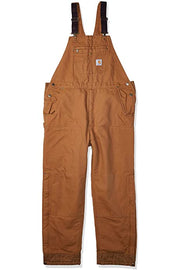 New Updated Carhartt heavyweight lined Bib Overalls | Brown or Black