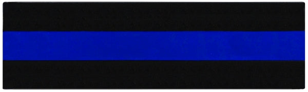Mourning Band Badge Patch Shroud  - Blue Line