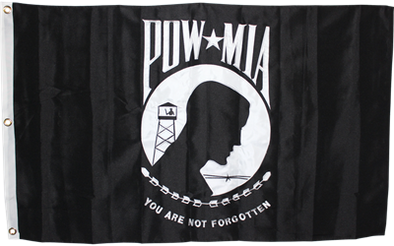3X5 POW MIA 2ply 600D Embroidered Flag