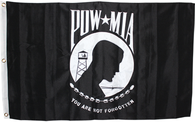 P.O.W M.I.A 2-ply Embroidered Flag | Multiple Sizes