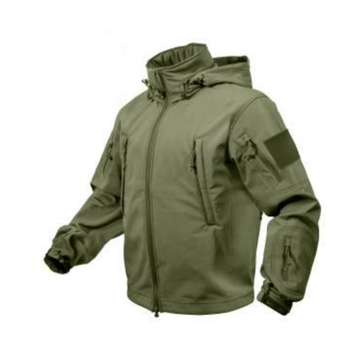 Special Ops Tactical Soft Shell Jacket w Removable hood.  | Multiple Colors Camo & Solid