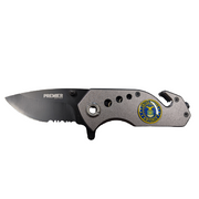 Multi Purpose Logo Knife | BlueLine, RedLine, NYPD, Navy, Marines & More.