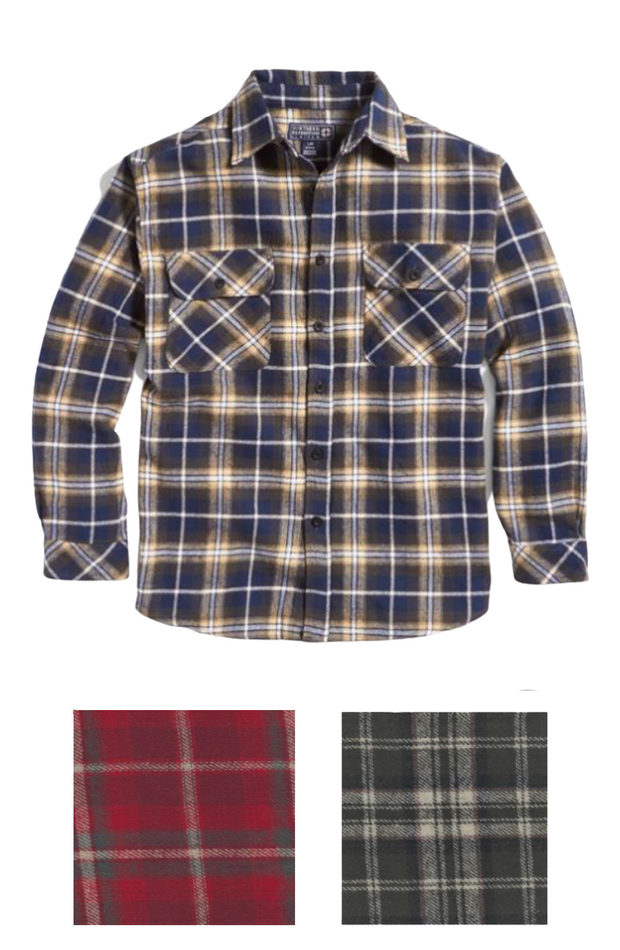 Heavyweight Brawn Flannel Shirts | 3 Colors
