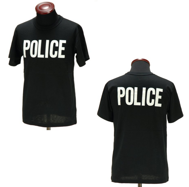 2-Sided Police T-Shirt | Black