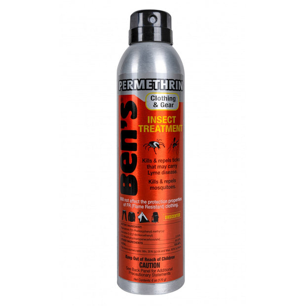 Ben's Permethrin Clothing & Gear Insect Treatment 6oz. Spray