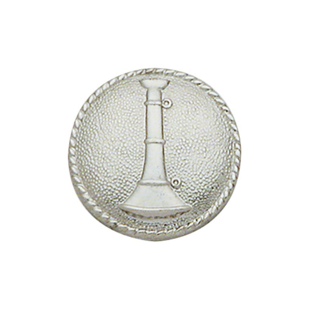 1 Bugle Round Disc Collar Insigina | Gold or Silver