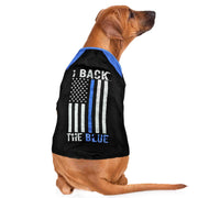 """I Back The Blue"" Thin Blue Line Dog Shirt 