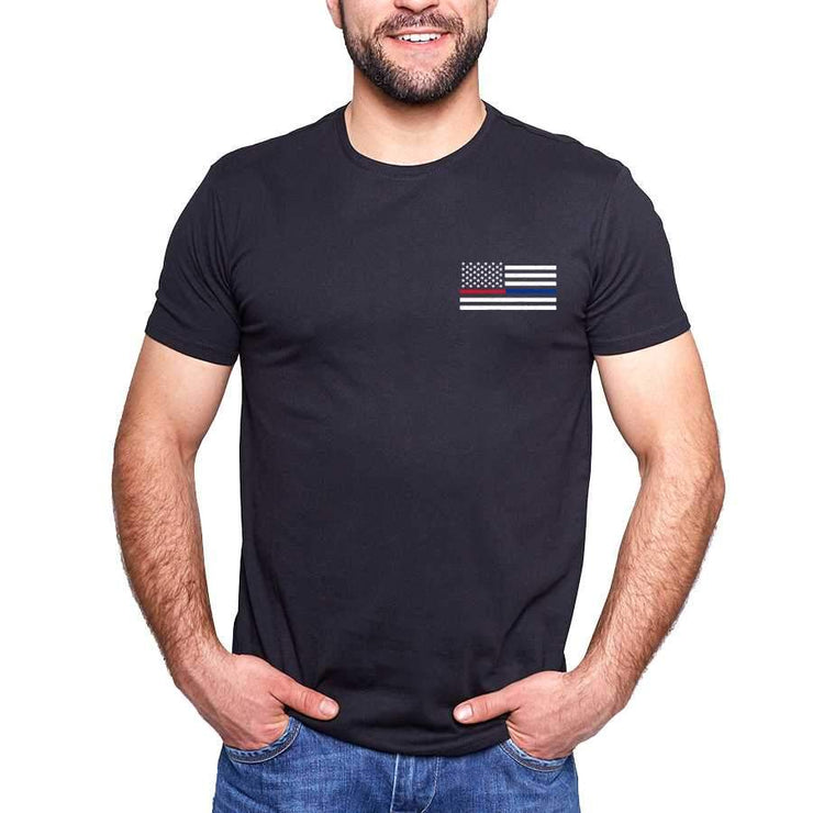 "Thin Blue-Red Line ""Remember"" T-Shirt"