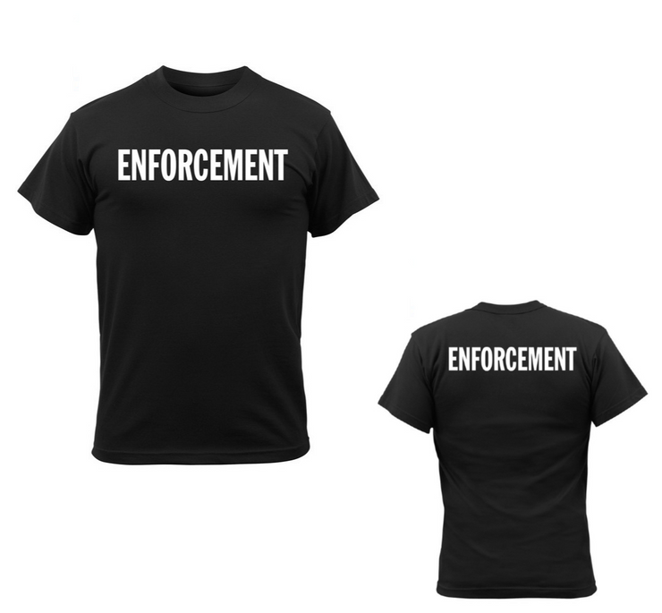2-Sided Enforcement T-Shirt | Black