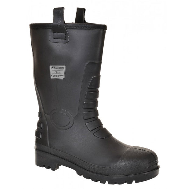 Safety Toe Berber Lined Rigger Boots | Black