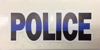"Thin Blue Line ""Police"" Sticker 
