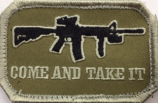 Come And Take It Patch Velcro