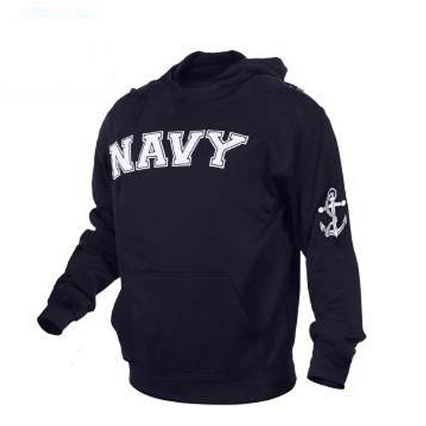 Military Embroidered Pullover Hoodies | Navy